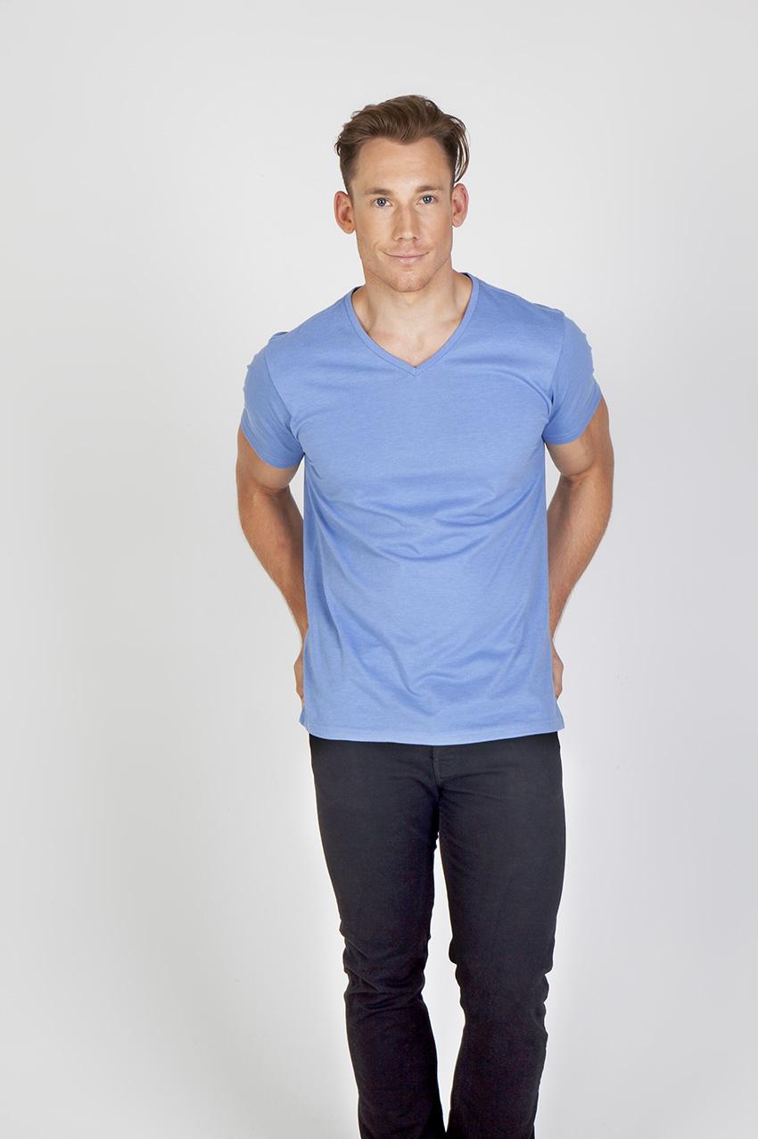 Mens Marl V-neck T-shirt