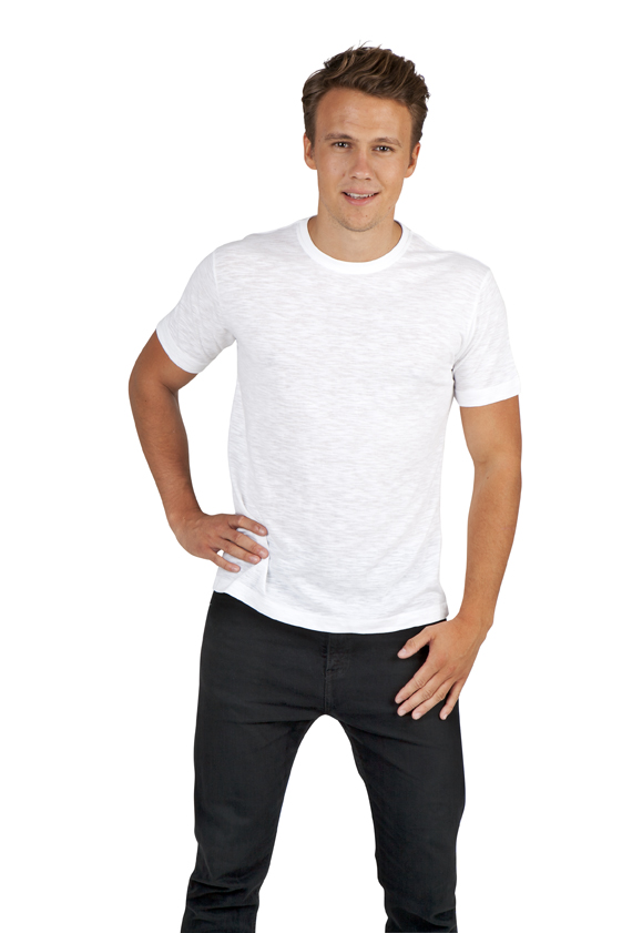 Mens Raw Cotton Wave Tees